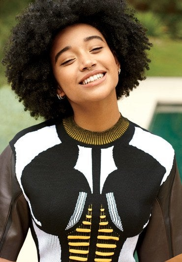 Amandla Stenberg Credits An Unlikely Source On Her Natural Hair Journey